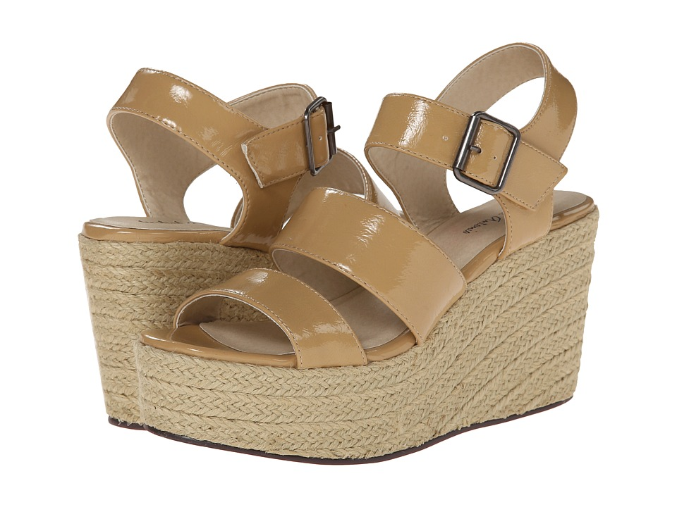 Michael Antonio - Gensen - Patent (Natural) Women's Wedge Shoes