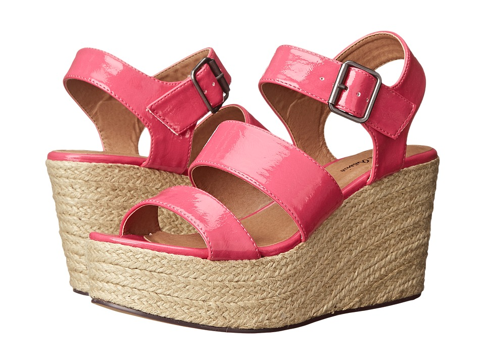 Michael Antonio - Gensen - Patent (Fuchsia) Women's Wedge Shoes