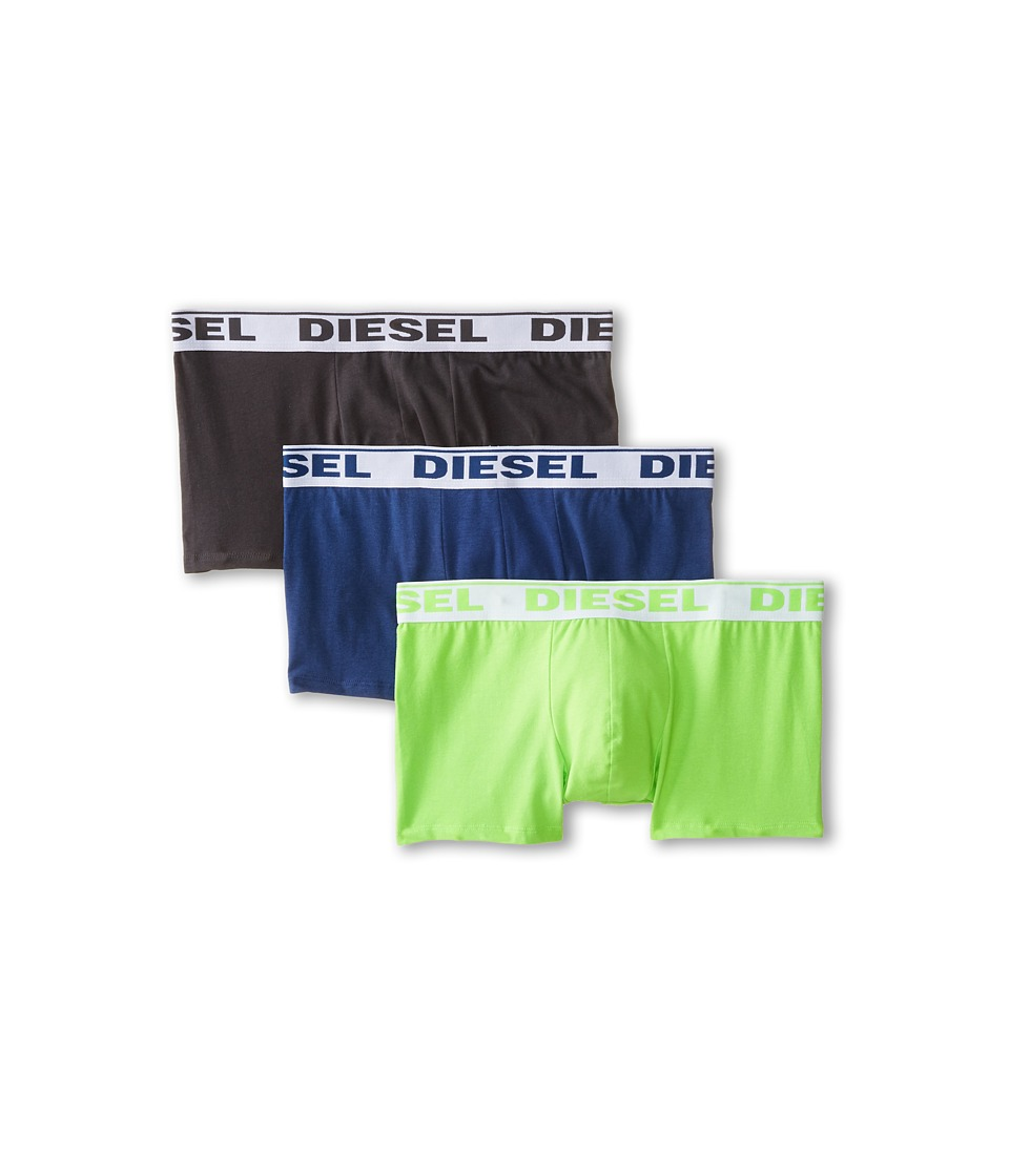 Diesel - Shawn Trunk GAFN 3-Pack (Black/Green/Blue) Men's Underwear