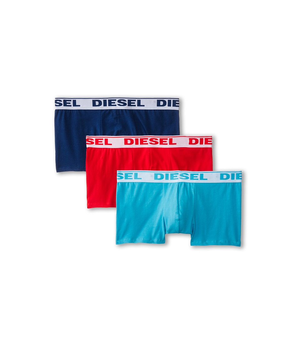 Diesel - Shawn Trunk GAFN 3-Pack (Red/Turquoise/Purple) Men's Underwear