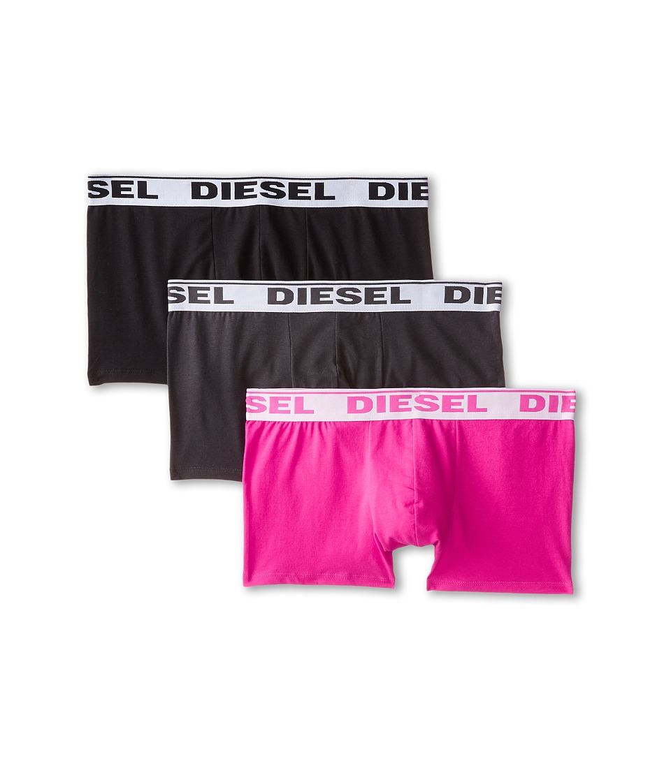 Diesel - Shawn Trunk GAFN 3-Pack (Pink/Charcoal/Black) Men's Underwear