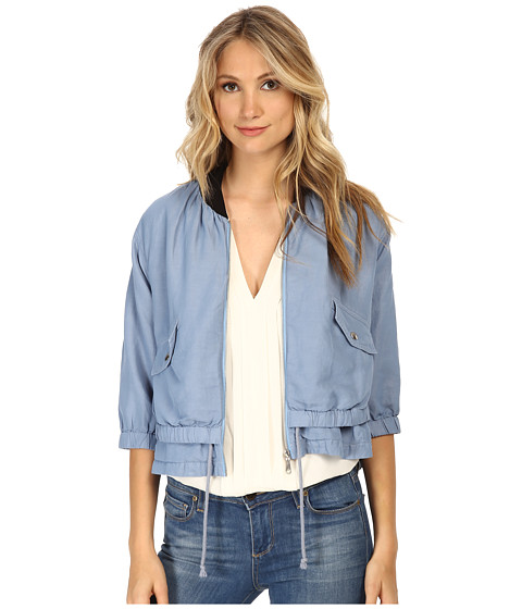 Rebecca Minkoff - Saxby Jacket (Steel Blue 1) Women's Jacket