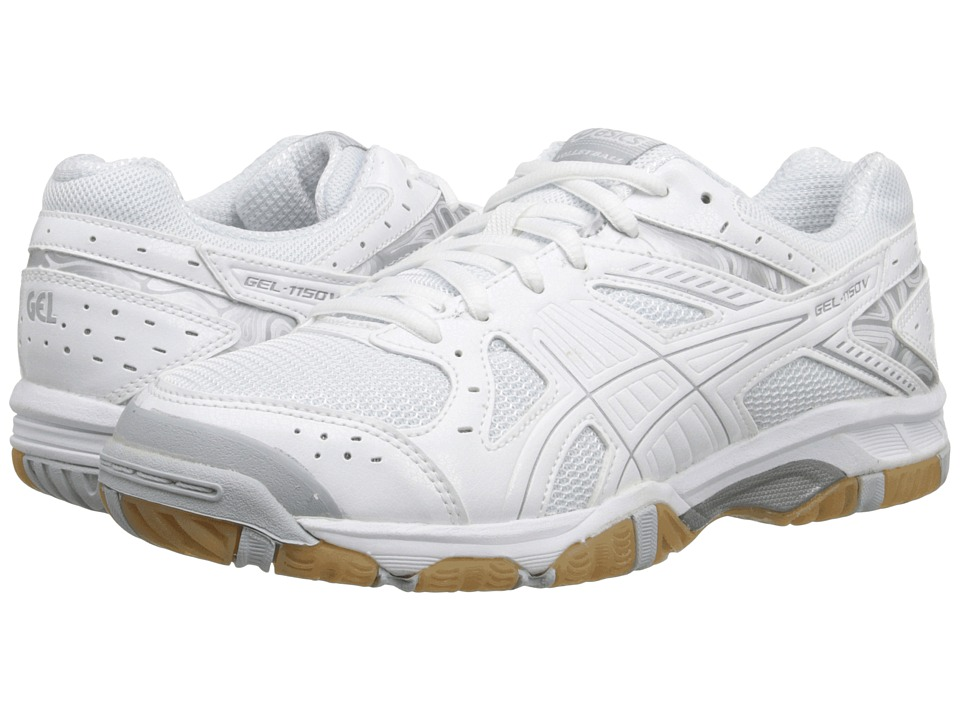 ASICS - Gel-1150V (White/Silver/Snow) Women's Volleyball Shoes