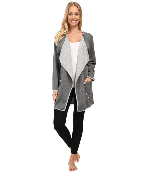 Carole Hochman - Double Faced Jersey Robe (Charcoal Heather) Women
