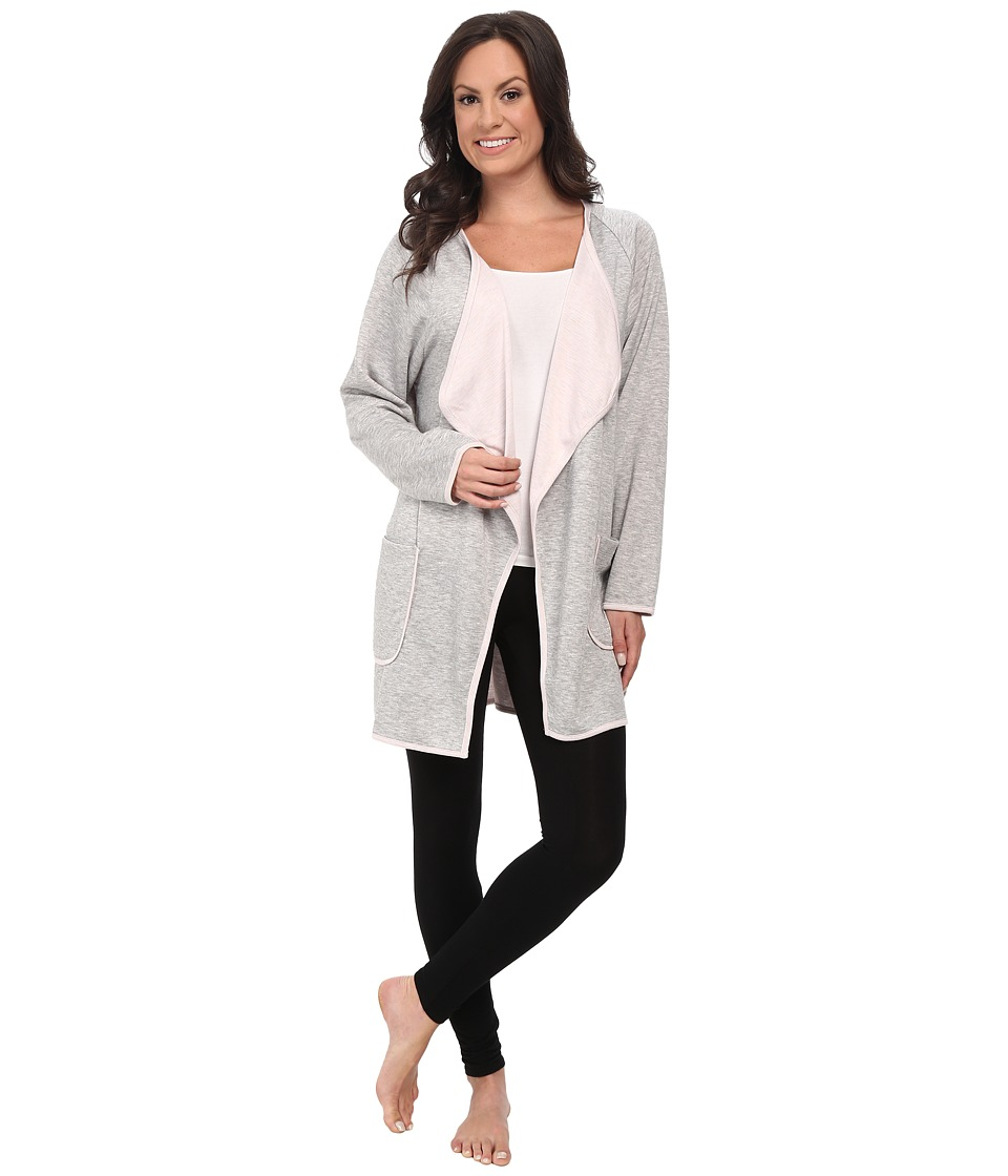 Carole Hochman - Double Faced Jersey Robe (Grey Heather) Women's Robe