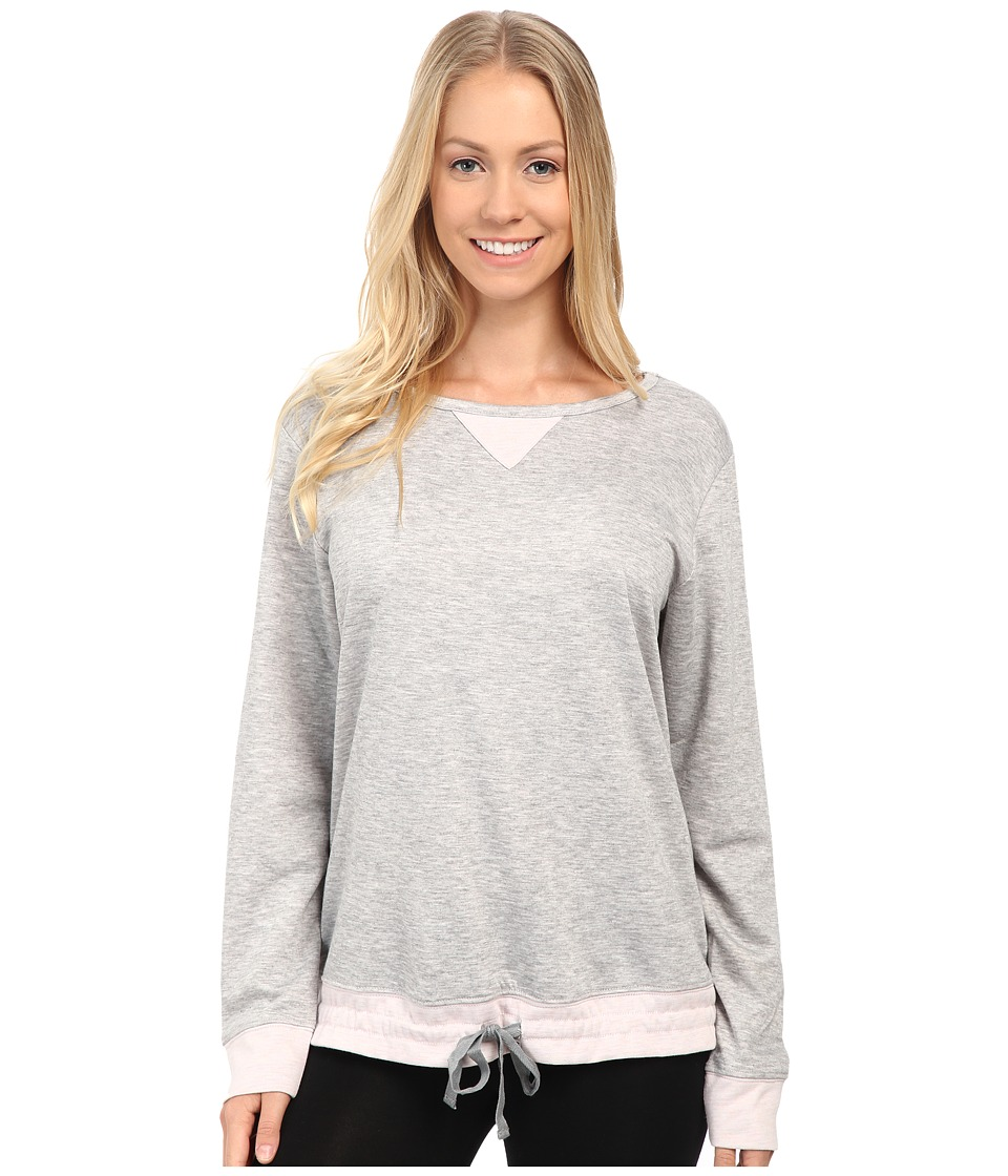 Carole Hochman - Double Faced Jersey Long Sleeve Top (Grey Heather) Women