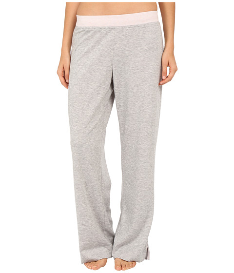 Carole Hochman - Double Faced Jersey Long Pants (Grey Heather/Pink) Women's Pajama