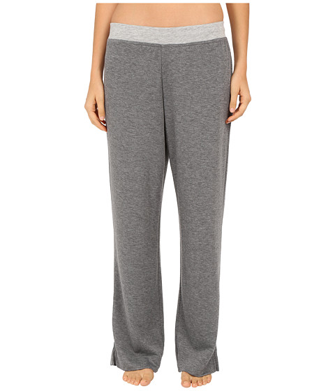 Carole Hochman - Double Faced Jersey Long Pants (Charcoal Heather) Women