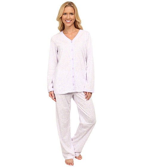 Carole Hochman - Three-Piece Pajama Set (Trellis Vines Ivory) Women's Pajama Sets