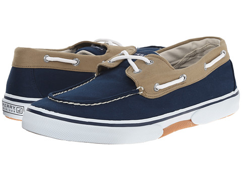 Sperry Top-Sider - Halyard 2-Eye (Navy/Khaki) Men's Shoes