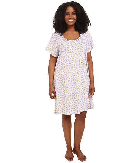 Carole Hochman - Plus Size Printed Sleepshirt (Garden Market) Women's Pajama