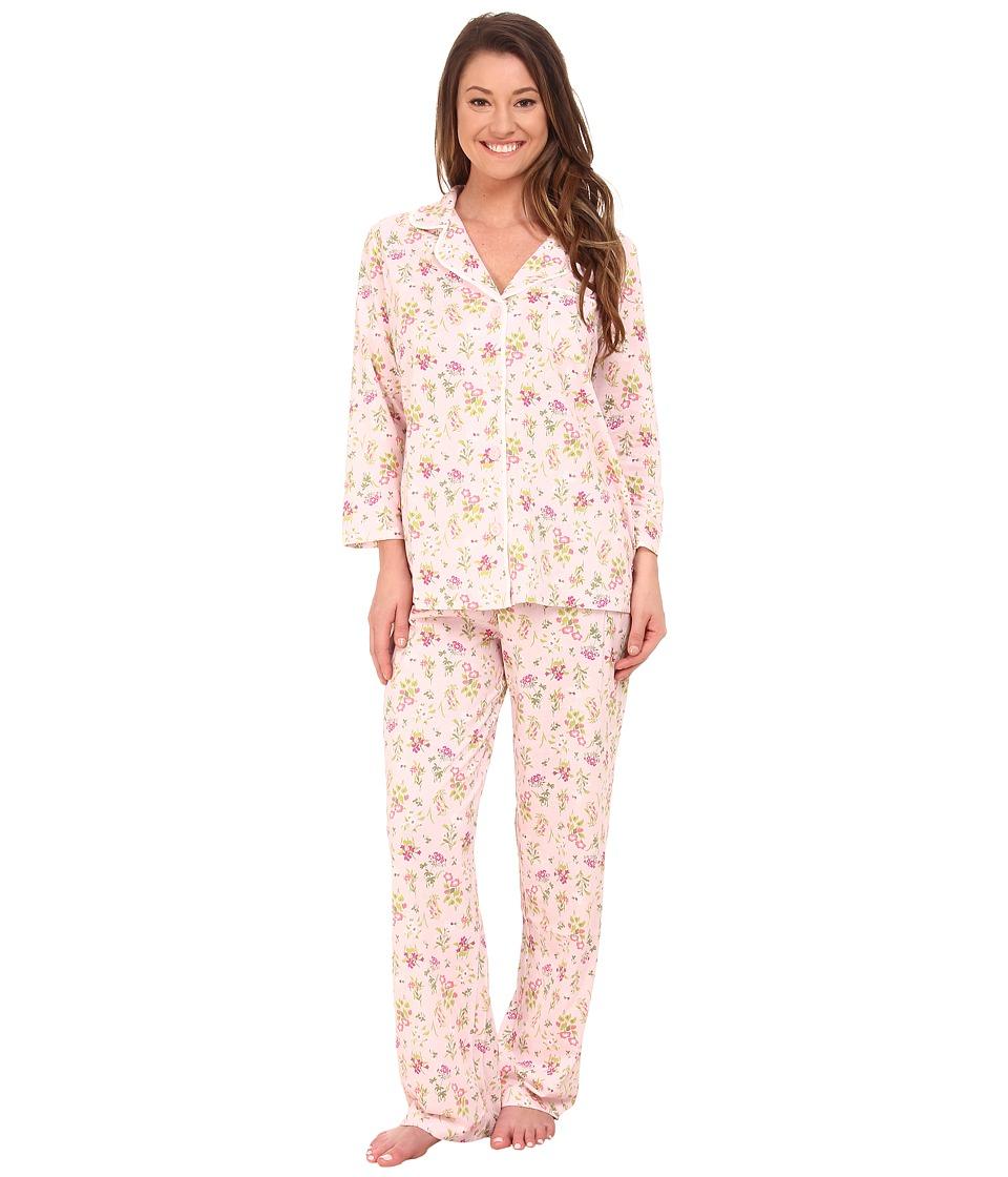 Carole Hochman - Long Pajama (Floral D cor Pink) Women