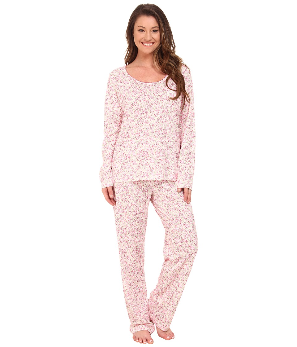Carole Hochman - Printed Long Sleeve Pajama (Delicate Daisy) Women