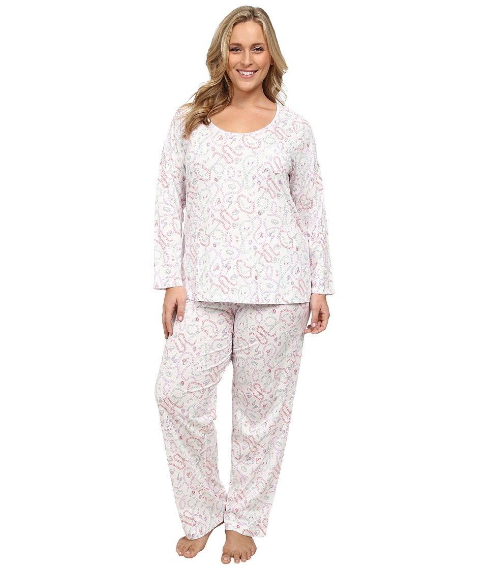 Carole Hochman - Plus Size Printed Long Sleeve Pajama (Vintage Baubles) Women