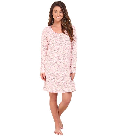 Carole Hochman - Printed Long Sleeve Sleepshirt (Delicate Daisy) Women's Pajama