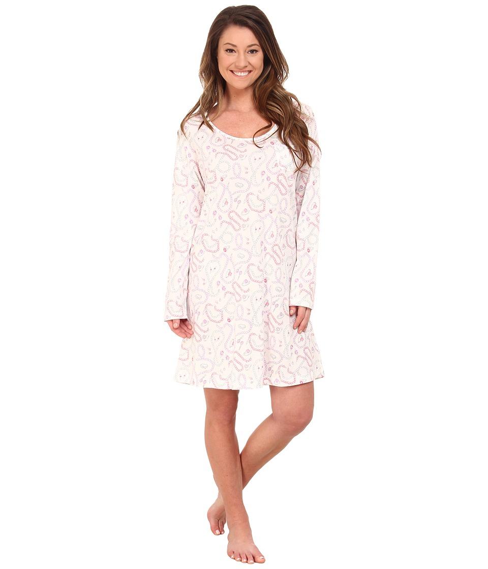 Carole Hochman - Printed Long Sleeve Sleepshirt (Vintage Baubles) Women's Pajama