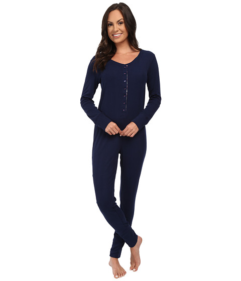 Jane & Bleecker - Varigated Rib One-Piece (Medieval Navy) Women's Jumpsuit & Rompers One Piece