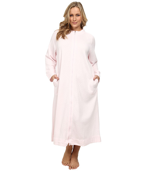 Carole Hochman - Plus Size Zip Robe (Elegant Pink) Women