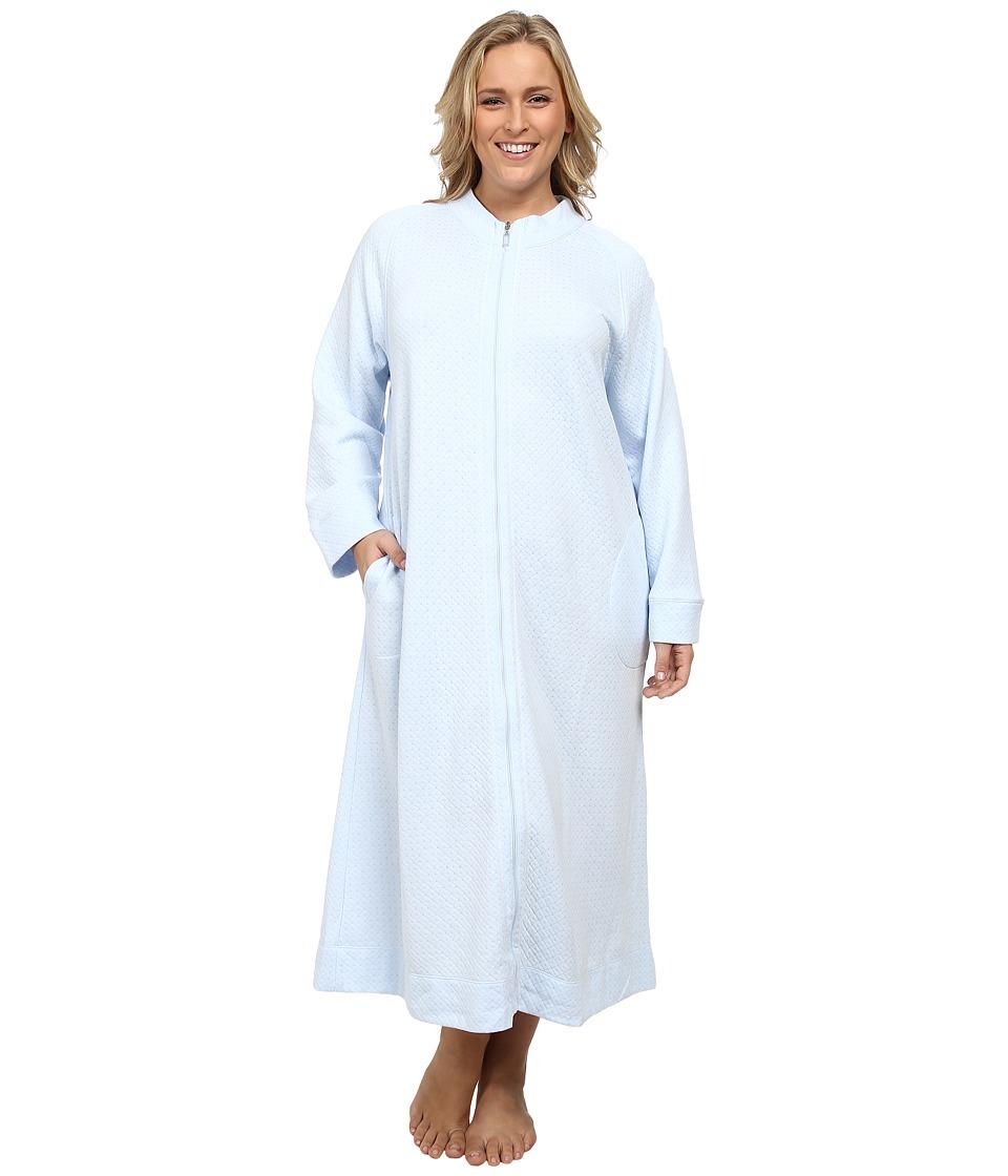 102b245caa 716274682087. Carole Hochman - Plus Size Zip Robe (Cloud Blue) Women s Robe