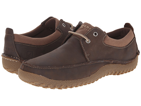 Sperry Top-Sider - Boat Moc 2-Eye (Brown) Men's Slip on Shoes