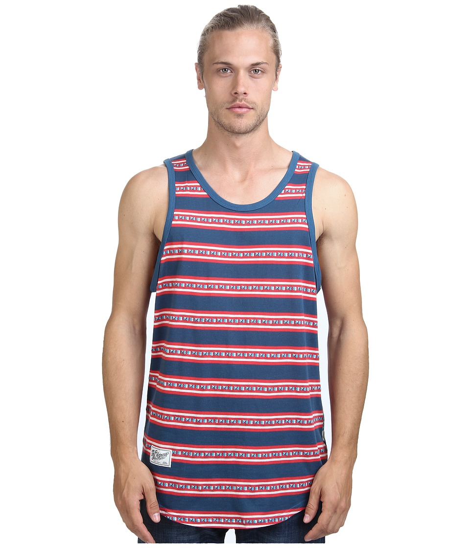 L-R-G - Mozambeezy Tank Top (Nautical Blue/Multi) Men's Sleeveless