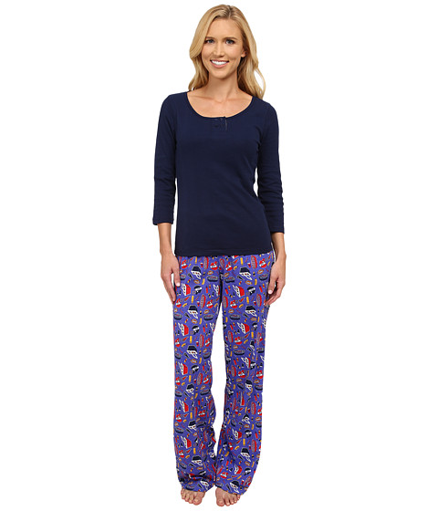 Jane & Bleecker - Varigated Rib Tee Jersey Pants (Tailgate) Women's Pajama Sets
