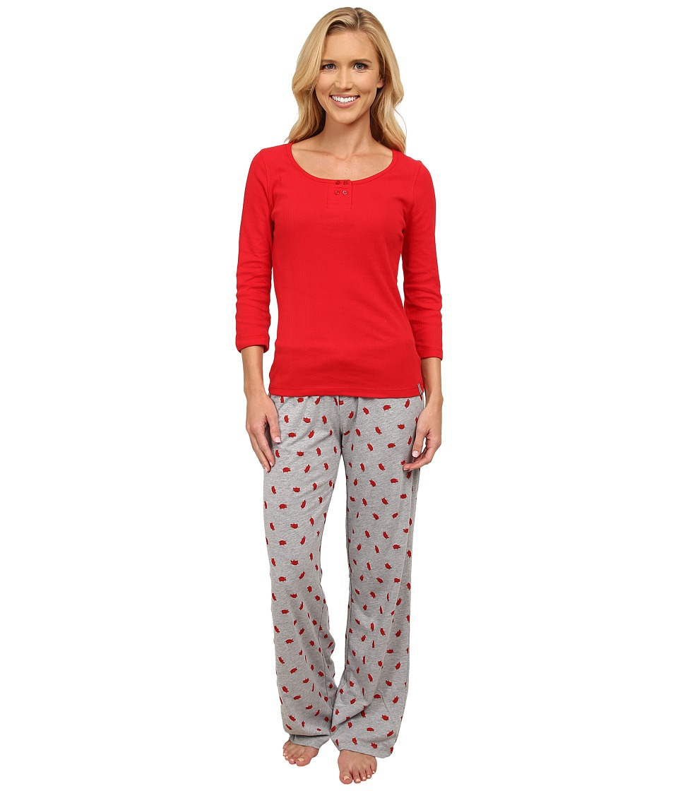 Jane & Bleecker - Varigated Rib Tee Jersey Pants (Piggy On Campus) Women's Pajama Sets