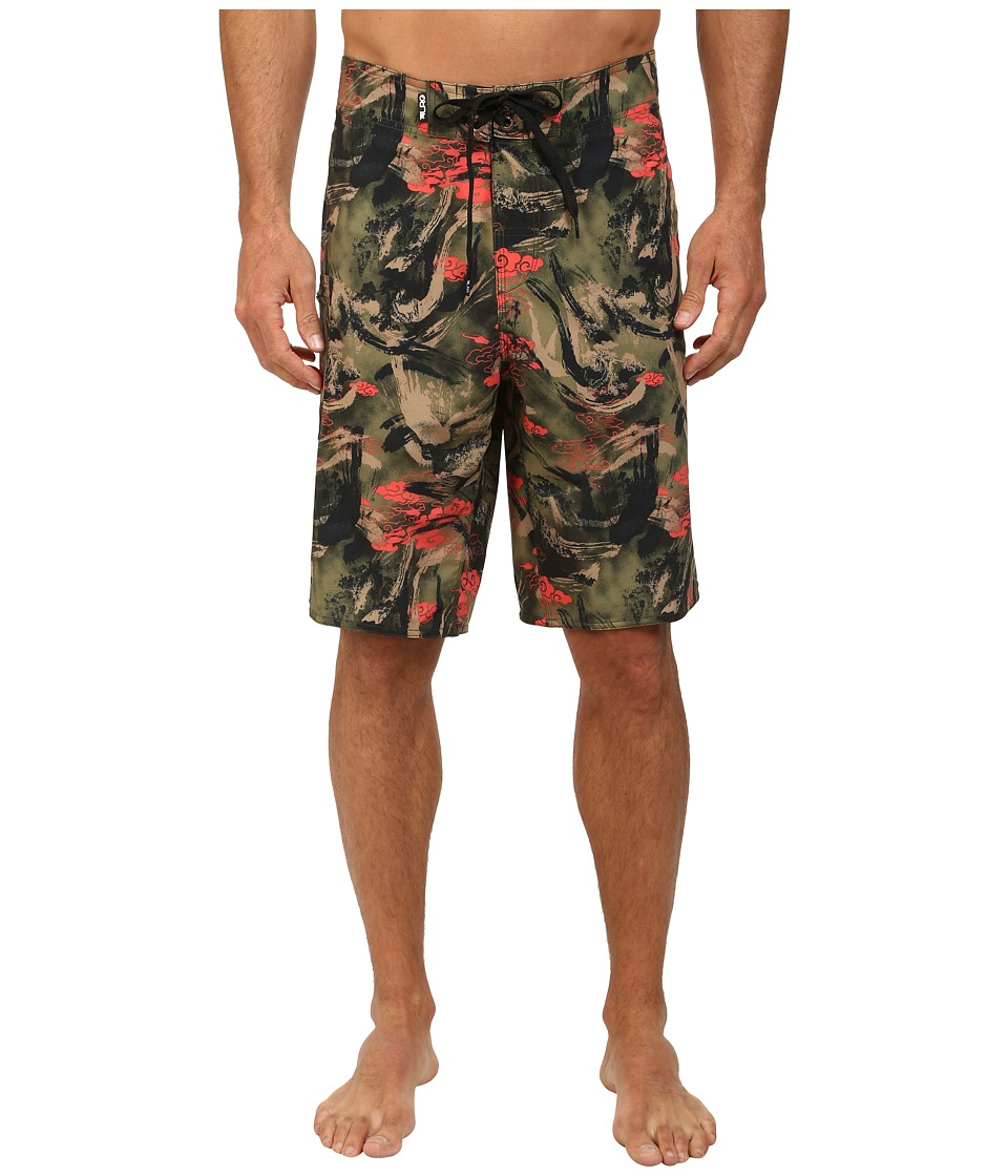 L-R-G - Research Destroy Boardshorts (Camo) Men's Swimwear