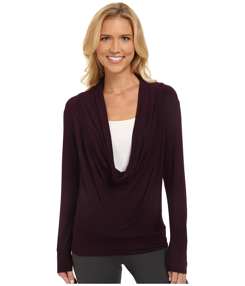 Midnight by Carole Hochman - Lounge Capsule Cowl Neck Top (Black Currant) Women's Pajama