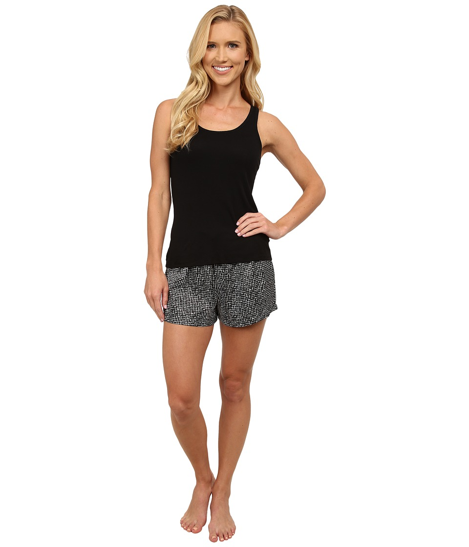 Midnight by Carole Hochman - Me Time Shorty Pajama Set (Graphic Dots Black) Women