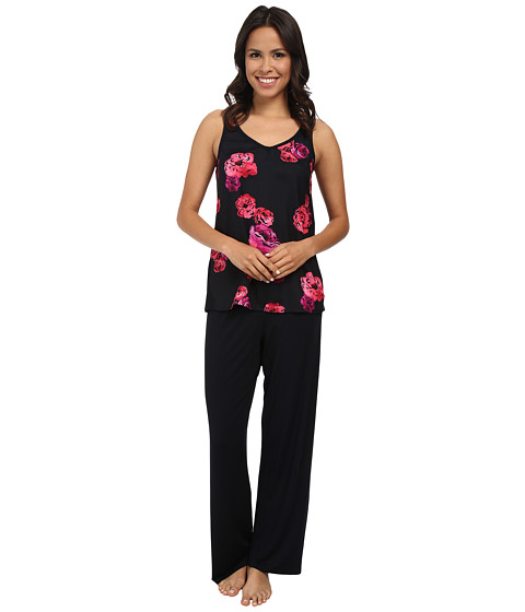 Midnight by Carole Hochman - Floating Floral Pajama Set (Floating Floral) Women's Pajama Sets