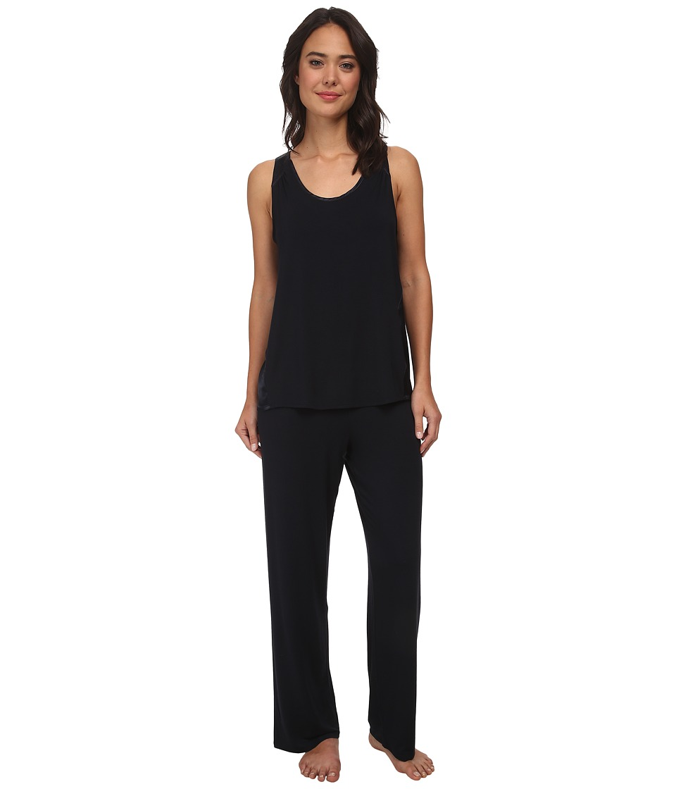 Midnight by Carole Hochman - Better Together Core Pajama with Satin (Midnight) Women