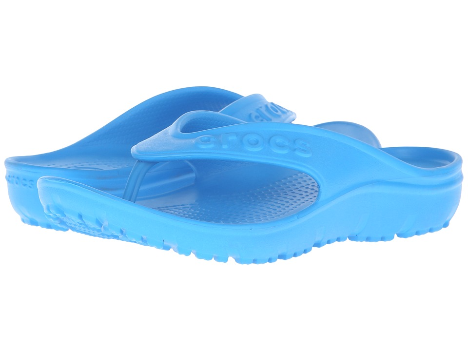Crocs Kids - Hilo Flip (Toddler/Little Kid) (Ocean) Kids Shoes