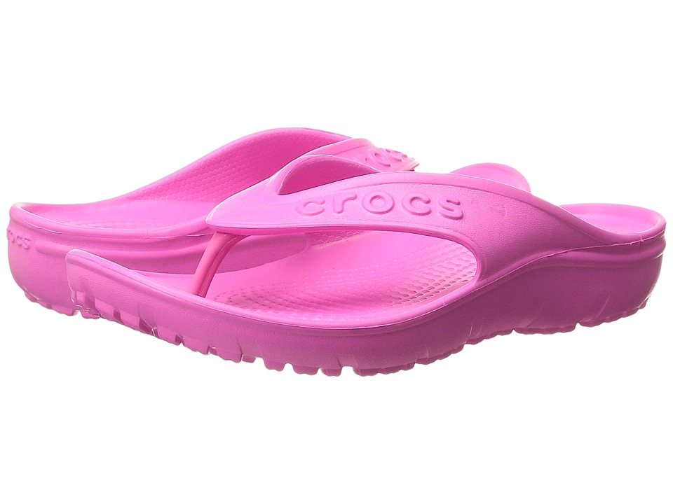 Crocs Kids - Hilo Flip (Toddler/Little Kid) (Neon/Magenta) Kids Shoes