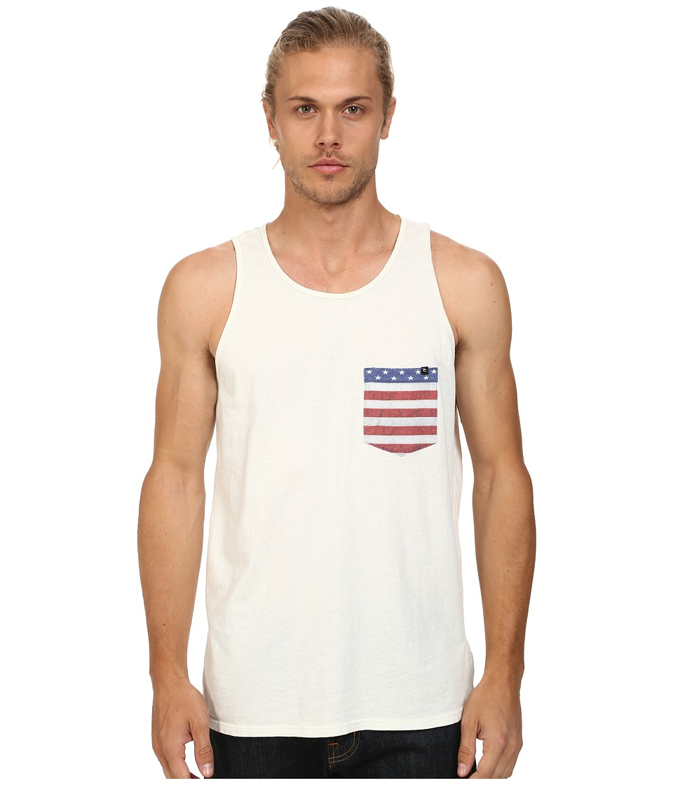 Rip Curl - Americano Custom Tank Top (Off White) Men's Sleeveless