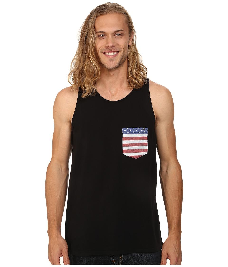 Rip Curl - Americano Custom Tank Top (Limo Black) Men