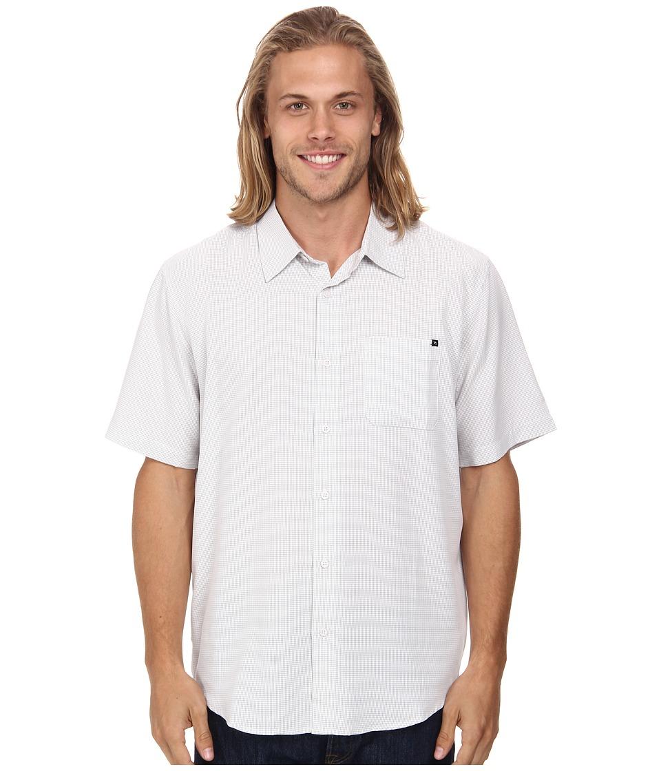 Rip Curl - Clifton Short Sleeve Shirt (Off White) Men's Short Sleeve Button Up