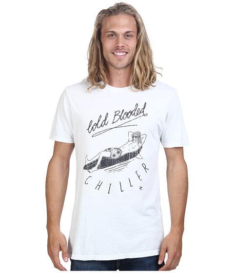 Rip Curl - Cold Blooded Heritage Tee (Off White) Men's T Shirt