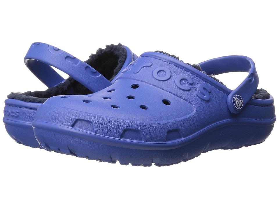 Crocs Kids - Hilo Lined Clog (Toddler/Little Kid) (Sea Blue/Navy) Kids Shoes