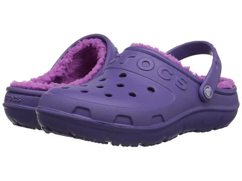 Crocs Kids - Hilo Lined Clog (Toddler/Little Kid) (Blue Violet/Wild Orchard) Kids Shoes