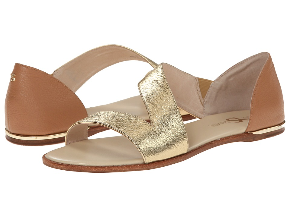 Yosi Samra - Casey Crossover Leather Sandal (Pure Gold/Sienna) Women's Sandals