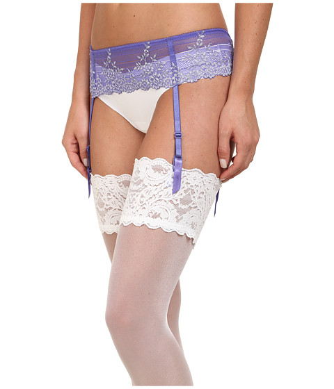 Wacoal - Embrace Lace Garter Belt (Blue Iris/Lurex) Women