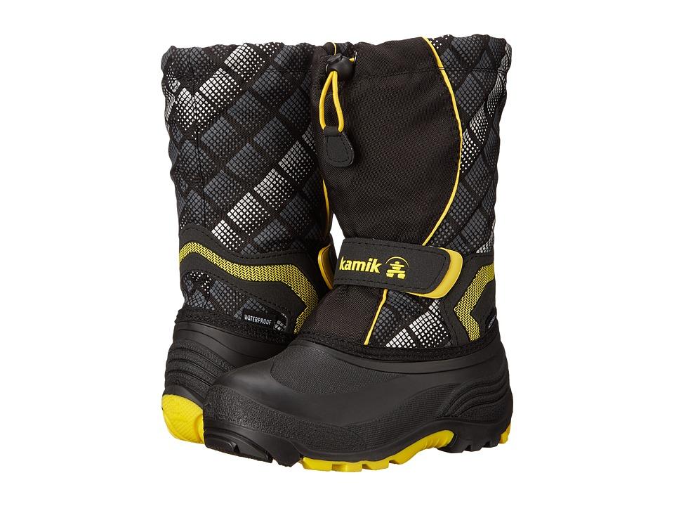 Kamik Kids - Snowbank2 (Toddler/Little Kid/Big Kid) (Black/Yellow) Boys Shoes
