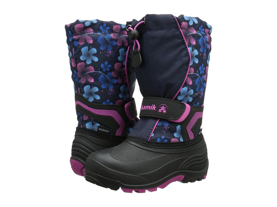 Kamik Kids - Snowbank2 (Toddler/Little Kid/Big Kid) (Navy/Magenta) Girls Shoes