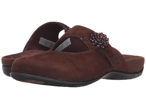 VIONIC - Joan Mary Jane Mule (Dark Brown) Women's Clog Shoes