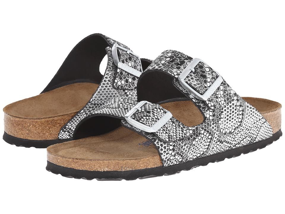 Birkenstock - Arizona Soft Footbed (Python Silver Leather) Women
