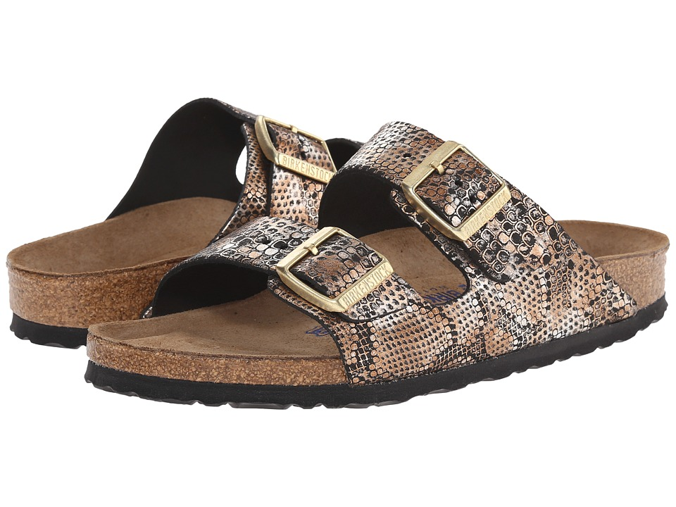 Birkenstock - Arizona Soft Footbed (Python Bronze Leather) Women
