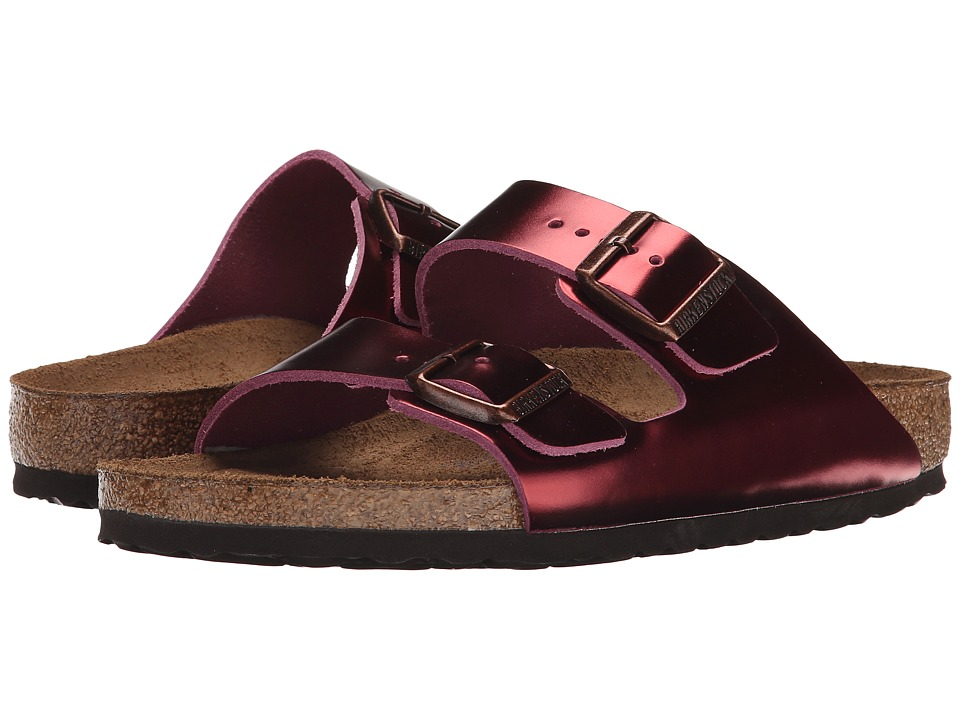 Birkenstock Arizona Soft Footbed (Metallic Tourmaline Leather) Women