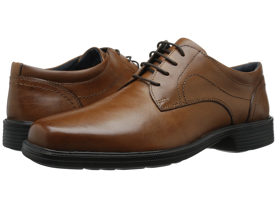 Nunn Bush Columbus Plain Toe Oxford (Cognac) Men