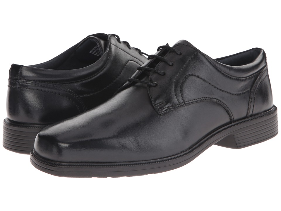 Nunn Bush - Columbus Plain Toe Oxford (Black) Men's Plain Toe Shoes